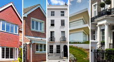 Montage of houses - Cleanhome cleans all types of homes!